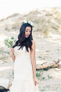 robe de mariée hippie chic - mariage bohème