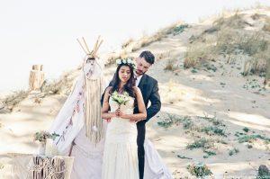 Inspiration mariage bohème hippie à la dune du pilat