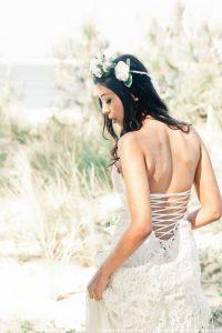 Robe de mariée hippie chic Joan - dos nu lacé