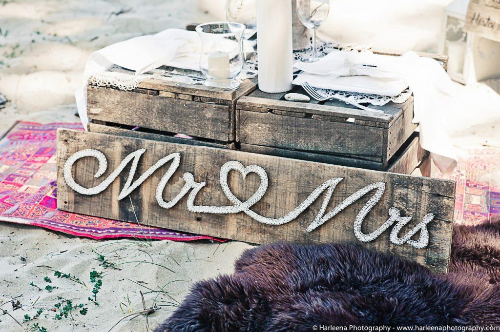 décoration mariage boho chic caisse bois