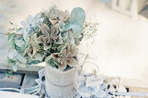 Mariage bohème fleurs papier