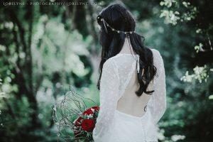 robe mariee simple champetre bio coton bio bordeaux