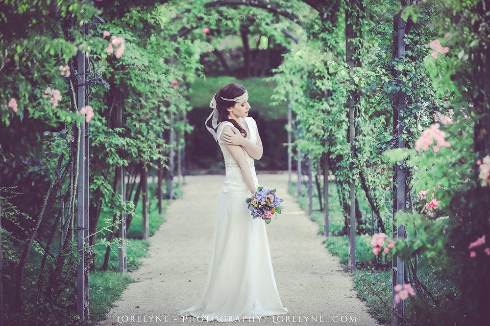 Robe mariee champetre - inspiration fleurs mariage Bordeaux