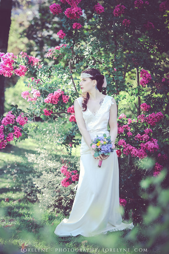 Robe mariee champetre - inspiration fleurs mariage Bordeaux