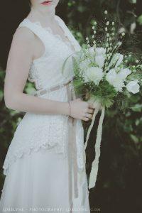 robe mariee boheme mariage champetre bordeaux detail ceinture et dentelle