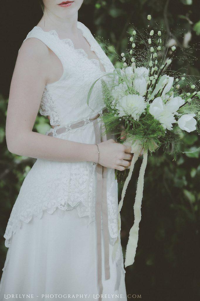 Robe de mariée bohème dentelle Ribye