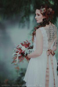 Robe de mariée bohème Rayfi - en coton et broderies de coton à Bordeaux et Martignas
