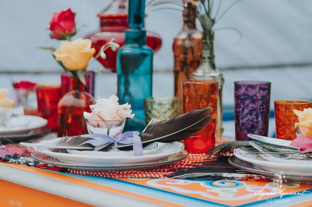 mariage-boho-yourte-decoration-table