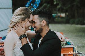 shooting inspiration mariage bohème Yourt - les mariés