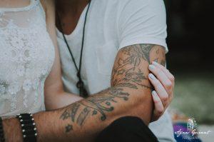 shooting inspiration mariage bohème Yourt - tatoo