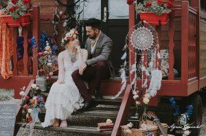 Robe de mariée bohème La Bohème - photos par Agnès Guéant