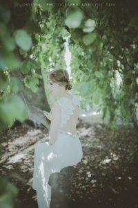 robe de mariée champêtre vegan - mariage champêtre en forêt vegan Bordeaux