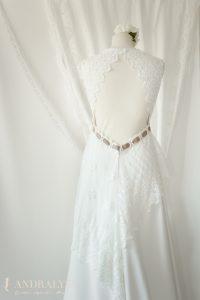 Robe de mariée champêtre bohème Ribye le grand dos nu