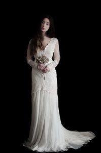 Robe de mariée bohème sur-mesure - Arcachon - Pilat - Bordeaux