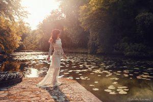 Robe de mariée bohème hippie Janis Bordeaux