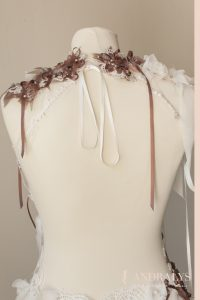 Robe de mariée féerique sur mesure Bordeaux - détail du dos