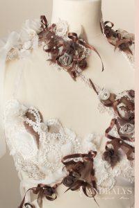 Robe de mariée féerique sur mesure Bordeaux - détail des broderies