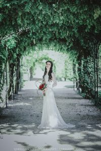 Robe de mariée en matières recyclées à Bordeaux