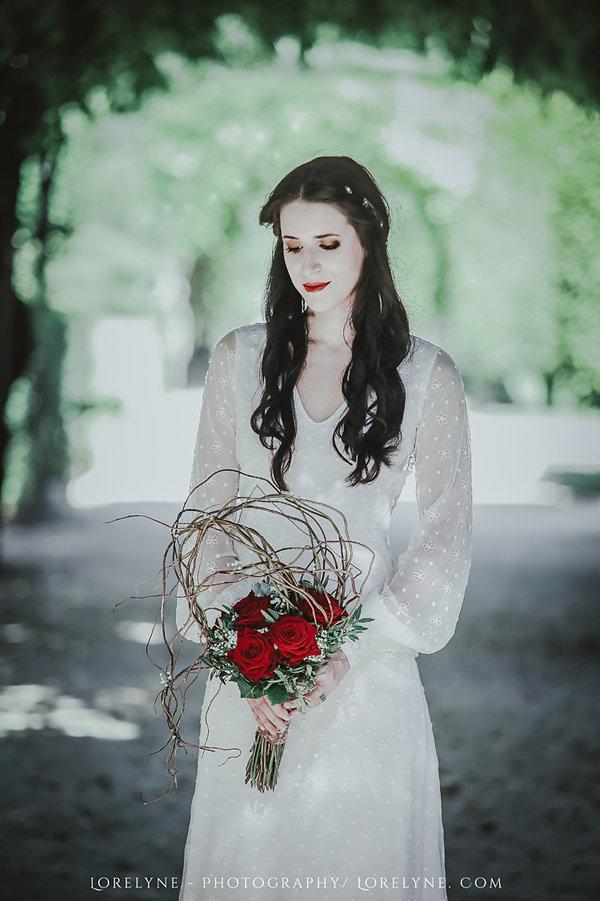 robe de mariée dentelle broderie de coton sur tulle recyclée