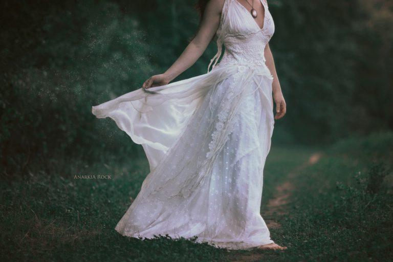 robe de mariée dentelle de coton et guipure