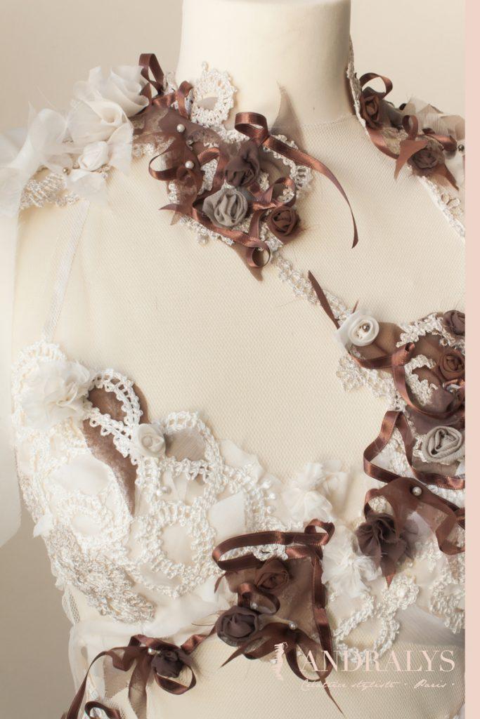 robe de mariée dentelle guipure