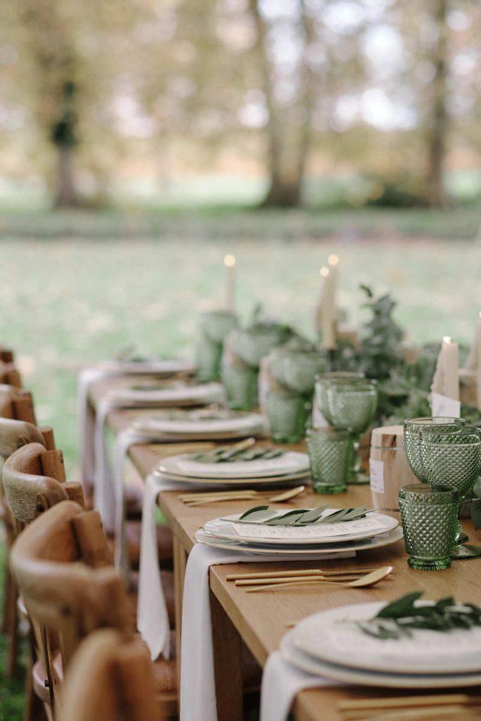 Mariage médiéval et contemporain - décoration de table