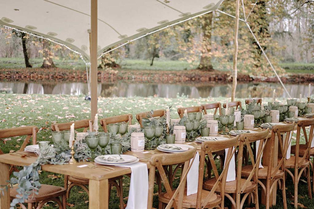 Mariage medieval décoration de table