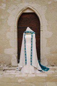 Cape sur-mesure mariee elfique medievale