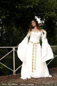 Robe de mariée médiévale Celtique