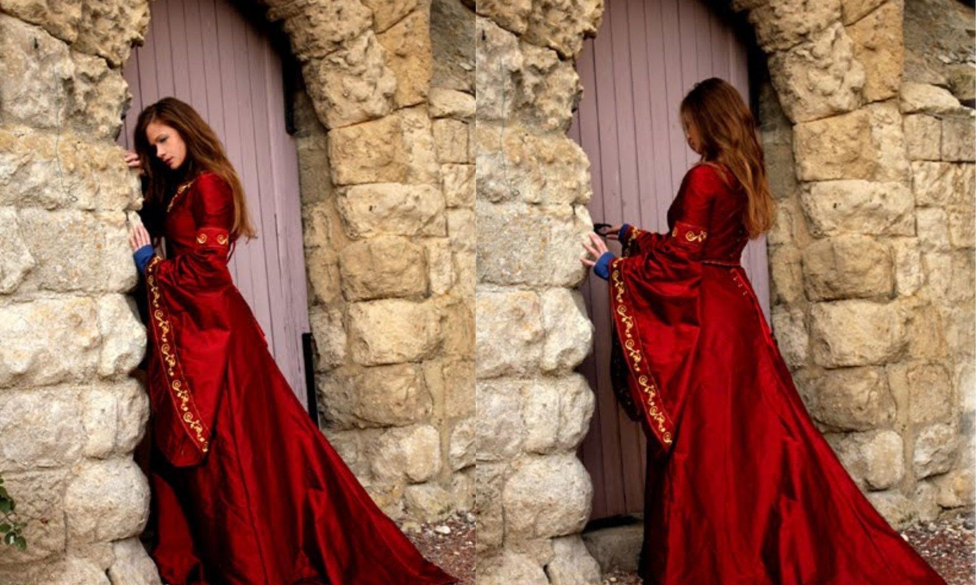 robe de mariée médiévale Dame Rouge